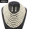 big maxi pearl boho necklace multi layer necklace new fashion bead statement necklace popular women bohemian party jewelry 3090