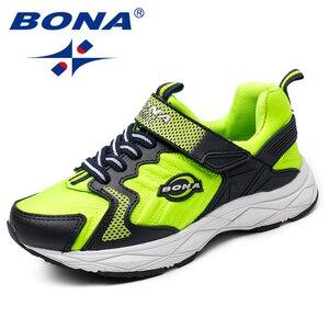 Image 2 - BONA Yeni Popüler Tarzı Çocuk rahat ayakkabılar Kanca ve Döngü Kızlar Ayakkabı Sentetik Erkek Loaferlar Açık Moda Spor Ayakkabı
