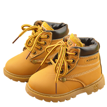 2016 Autumn Winter Children Fashion Martin Boots Girls Boys Boots Kids Snow Boots Kids Casual Shoes Sneakers For Boys Girls boots kuoma for boys 7047616 valenki uggi winter shoes children kids mtpromo