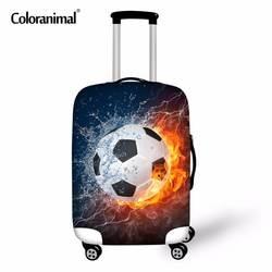 Coloranimal 3D soccerly basketballly Чемодан Защитный Чехол путешествия тележка чемодан упругий дождь Пыль Покрывает для 18-30 дюймов