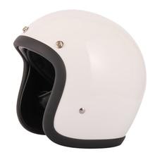 Glass Fiber Vintage helmet Doubble D ring buckle retro motorbike helmet ECE certification
