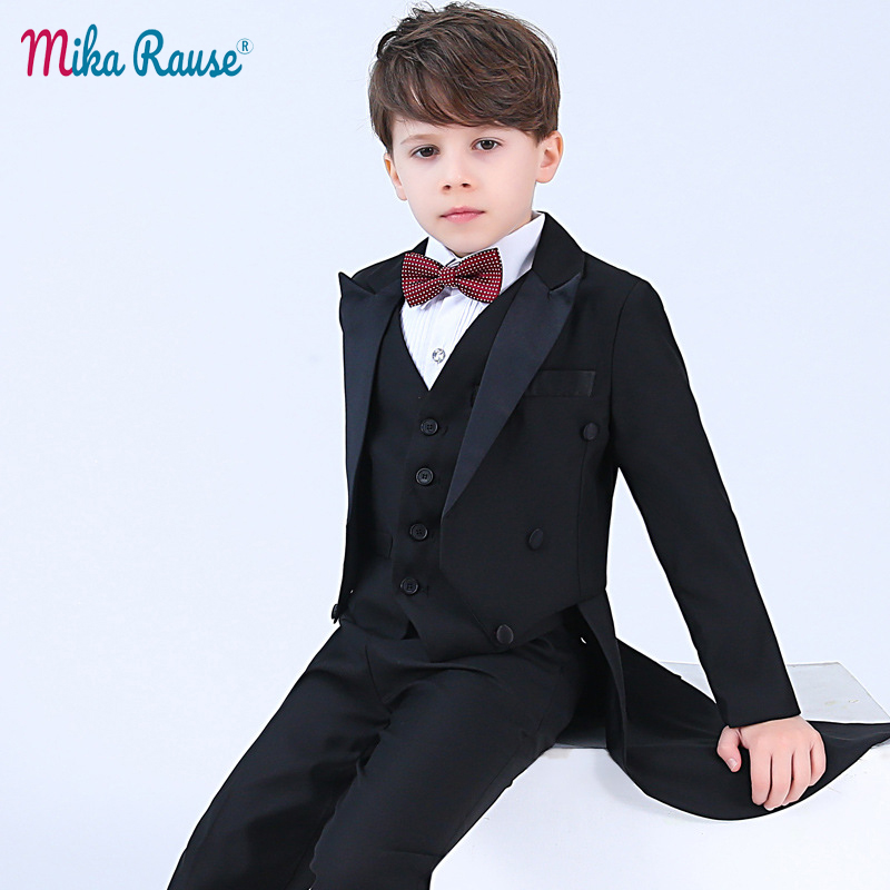 b3d7c0539 2019 New kids tuxedo suits black blazer host piano costume children boys  piano wedding clothes formal boy school Formal Tuxedos-in Blazers from  Mother ...