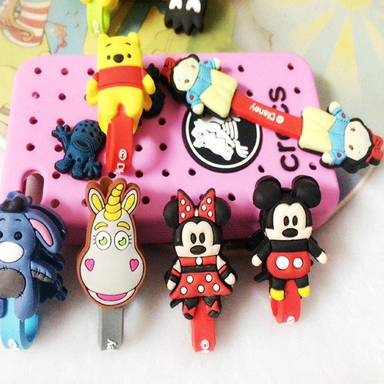 100pcs lot Cartoon Cable Winder Headphone Earphone Cable Wire Organizer Cord Holder For iphone samsung free shipping in Cable Winder from Consumer Electronics
