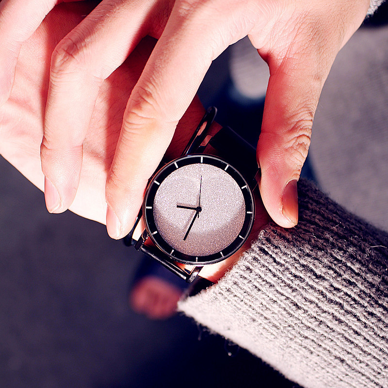 Korea Style Luxury Men Women Watches Quartz Ladies Clock Minimalism Starry Sky Watch Fashion Casual Leather Wristwatch relogio in Women 39 s Watches from Watches