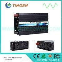 Решетки галстук система 1500 Вт 1.5KW инвертор преобразовать DC вход переменного тока выходного сигнала Чистая синусоида 12 В/24 в/48 В до 220 В 50 Гц/60