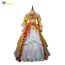 Vocaloid Kagamine Rin Cosplay Costume Halloween Outfit Daughter of Evil Dress Elegant Rin Dress Custom Made rin sparrow bookends