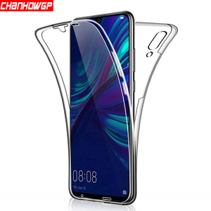 360 Double Silicon Case For Huawei P30 P20 Pro P10 P9 P8 Lite 2017 P Smart Y5 Y6 Y7 Y9 2019 Mate 20 Honor 10 Lite 10i 8A Cover(China)