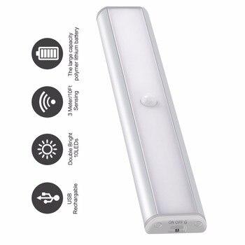 PIR датчик светодио дный движения светодиодный под шкаф свет для шкафа шкаф освещение Портативный светодио дный светодиодный светильник USB п...