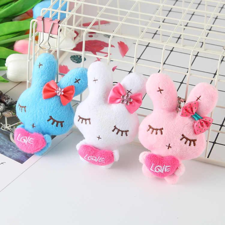 Baixo bonito kitty gigi gato coelho bichos de pelúcia brinquedos saco do telefone pingente chaveiro para meninas coelho de pelúcia oyuncak juguetes olá