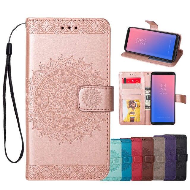 Caso modelado para Samsung Galaxy S7 S8 S9 S10 Mais Borda S3 S4 S5 S6 J3 J5 J7 2016 2017 s10e Com Telefone Flip Carteira de Couro Capa