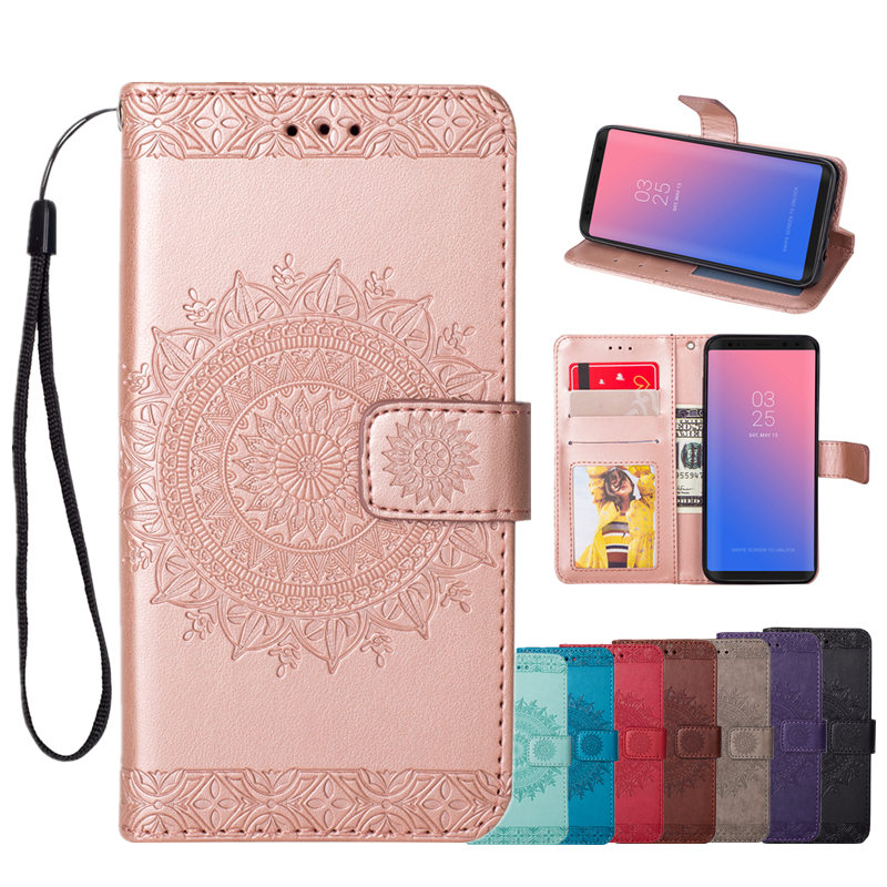 Patterned Case for Samsung Galaxy S7 S8 S9 S10 Plus Edge S3 S4 S5 S6 J3 J5 J7 2016 2017 S10e With Leather Flip Phone Wallet Capa