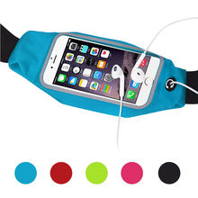 Sports Running Gym Waist Belt Bag Case Cover for iphone 6 Plus 5.5(China)