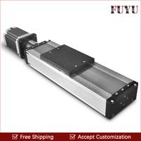 Бесплатная доставка нагрузкой 400 мм ход Линейное движение направляющей модуль слайд этап с шаговым двигателем