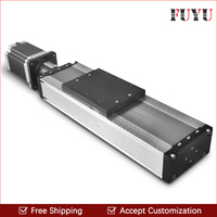 Free shipping heavy load 400mm stroke linear motion guide rail module slide stage with step motor