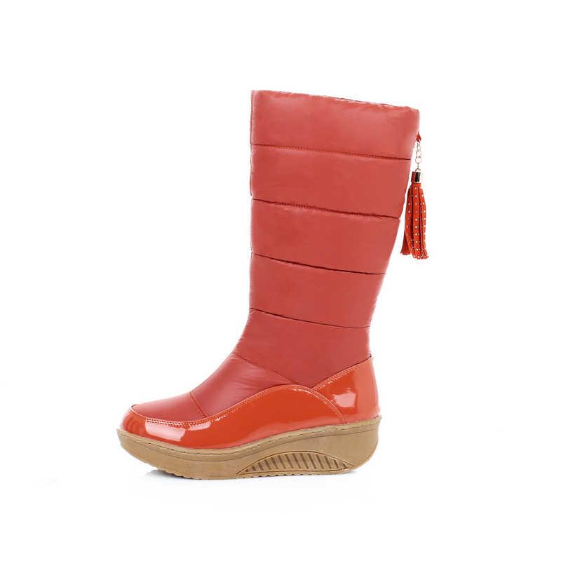 DORATASIA Plus size 35-44 Winter super warm mid-calf snow boots women 2019 waterproof platform boots wedges shoes woman
