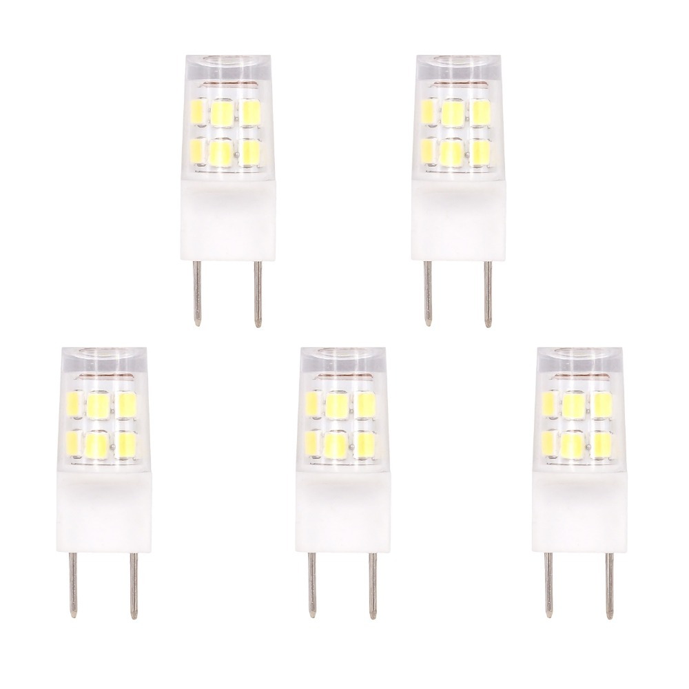 5pcs 2W <font><b>G8</b></font> <font><b>LED</b></font> Bulb Light 110V 120V 2835 SMD <font><b>LEDs</b></font> Lamp 20W Halogen Bulb Replacement warm white pure white image
