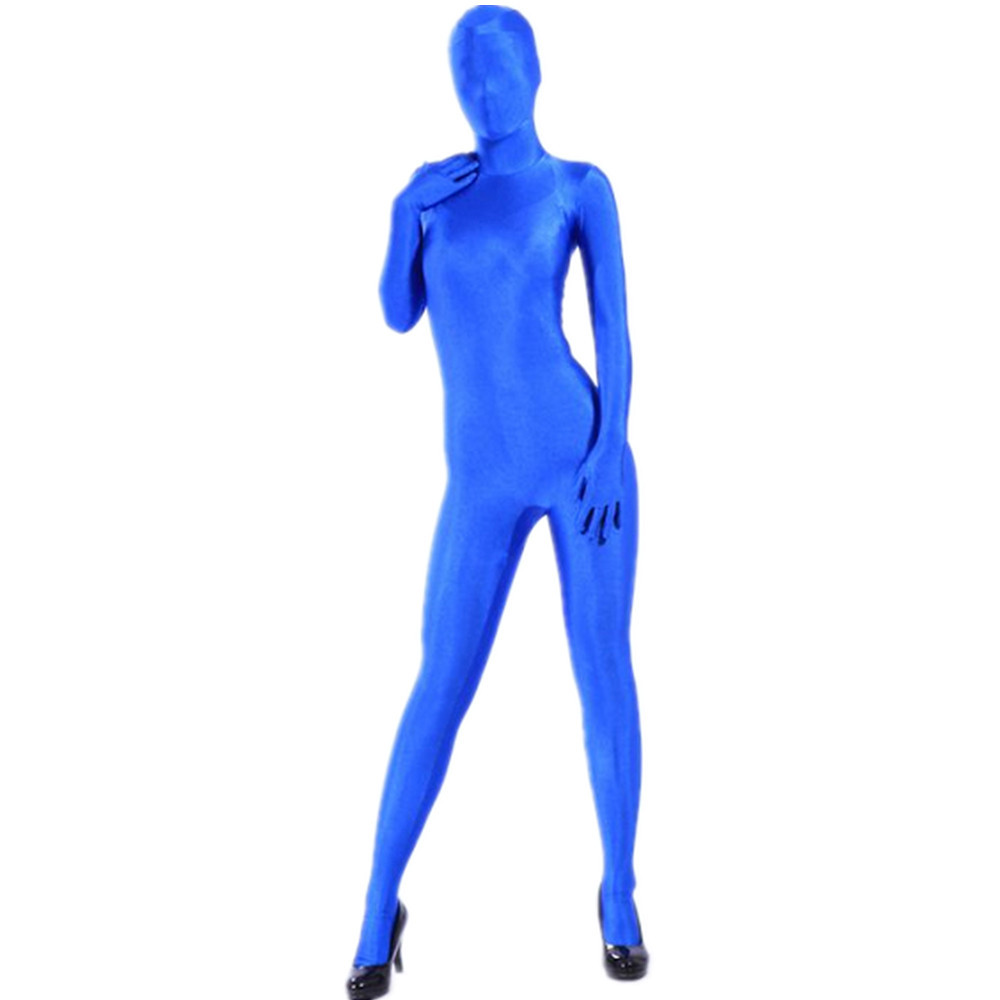 Scf020 Blue Lycra Spandex Shiny Tights Unisex Original Fetish Zentai Suits In Zentai From Novelty Special Use On Aliexpress Com Alibaba Group
