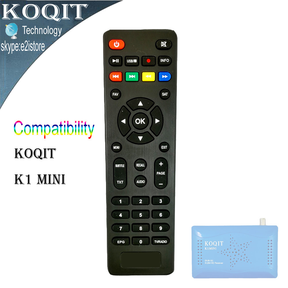 KOQIT K1 Mini Blue Color RC Remote Contorl for HD Digital DVB-S2 Satellite Receiver Satellite receiver Remote Control