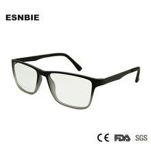 ESNBIE TR90 Plastic Memory Eyeglasses Frames Men Myopia Unisex Square Eye Glasses Frame For Women Correction RT1084