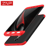 ZNP Luxury PC Hard Shockproof 360 Protection Case For Xiaomi Redmi NOTE 4 4X Cover For Redmi NOTE 4X Pro Back Case Capa Coque