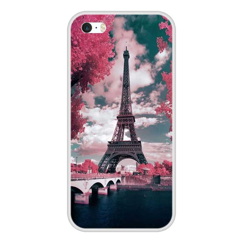 Fashion Phone Cases For Apple iPhone 4 4S 5 5S 5C SE Fundas Coque For iPhone 5 4  S Silicone Case Soft Back Cover