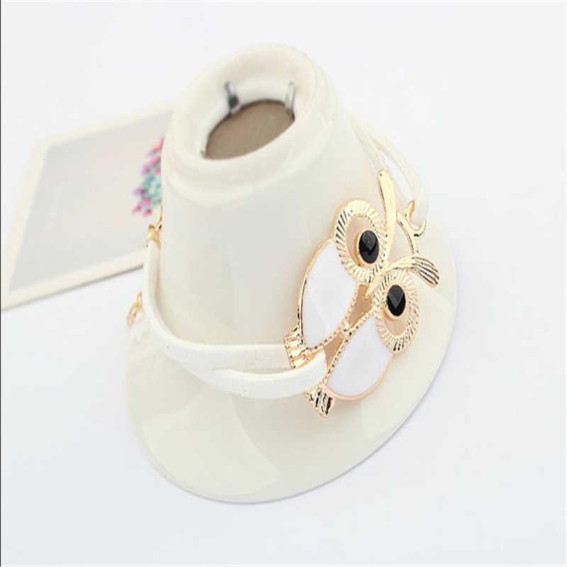 Elegante pulsera salvaje 1PC mujer amor búho decoración imitación cuero pulseras señora joyería regalo de alta calidad para chica elegante l0330