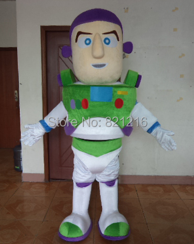 Buzz Lightyear Mascot Costume Character Adult Size Cartoon theme costumes for Halloween party event