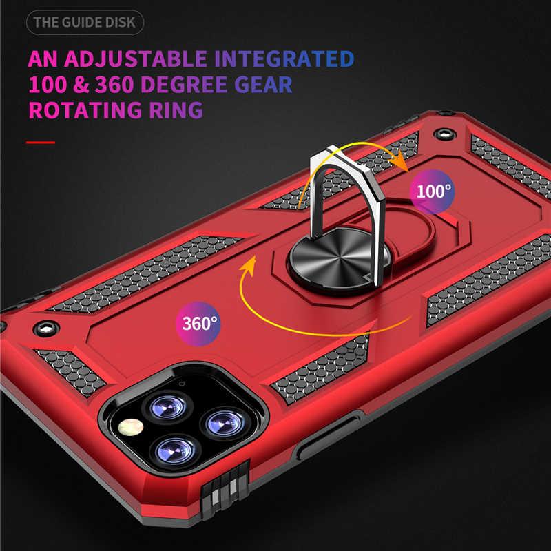 الفاخرة المغناطيس المعادن صدمات Kickstand الهاتف حالة ل فون XS2 2019 XS ماكس XR 5S SE 6 6S 7 8 زائد الوفير غطاء حامل Fundas