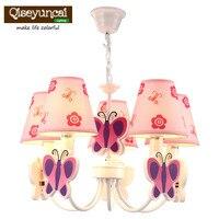 Qiseyuncai Child room cute cartoon led chandelier girl princess room warm personality creative bedroom lighting
