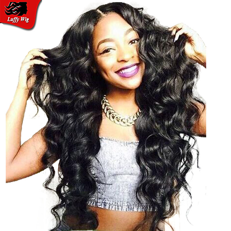 7A Glueless Full Lace Human Hair Wigs For Black Woman Brazilian Virgin Hair Deep Body Wave Lace Front Wigs Pre Plucked Baby Hair