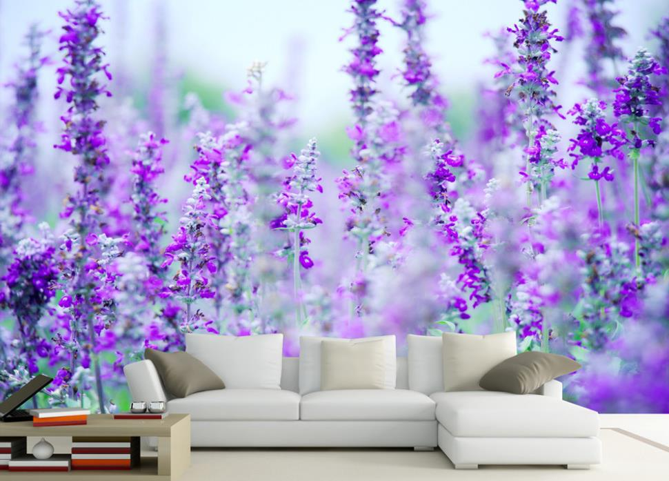 3D Wallpaper Custom Any Size Mural Wallpaper Lavender Flower Sea Modern Minimalist TV Backdrop Bedroom Photo Wallpaper 3D custom any size 3d mural wallpaper european modern minimalist bedroom living room tv backdrop abstract trees 3d photo wallpaper page 3