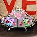 Nova moda estilo Único de impressão a laser UFO nave espacial dos desenhos animados mini cadeia bolsa de ombro bolsa das senhoras saco do mensageiro aba bolsa