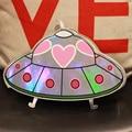 Nuevo estilo Único de la moda de impresión láser OVNI nave espacial de la historieta mini bolso de las señoras del monedero del mensajero de hombro de la cadena bolso de la aleta