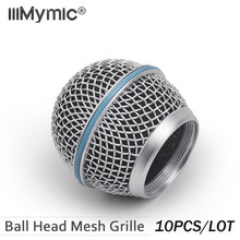 10PCS New Replacement Ball Head Mesh Microphone Grille for Shure BETA58 BETA58A SM 58 SM58S SM58LC(China)