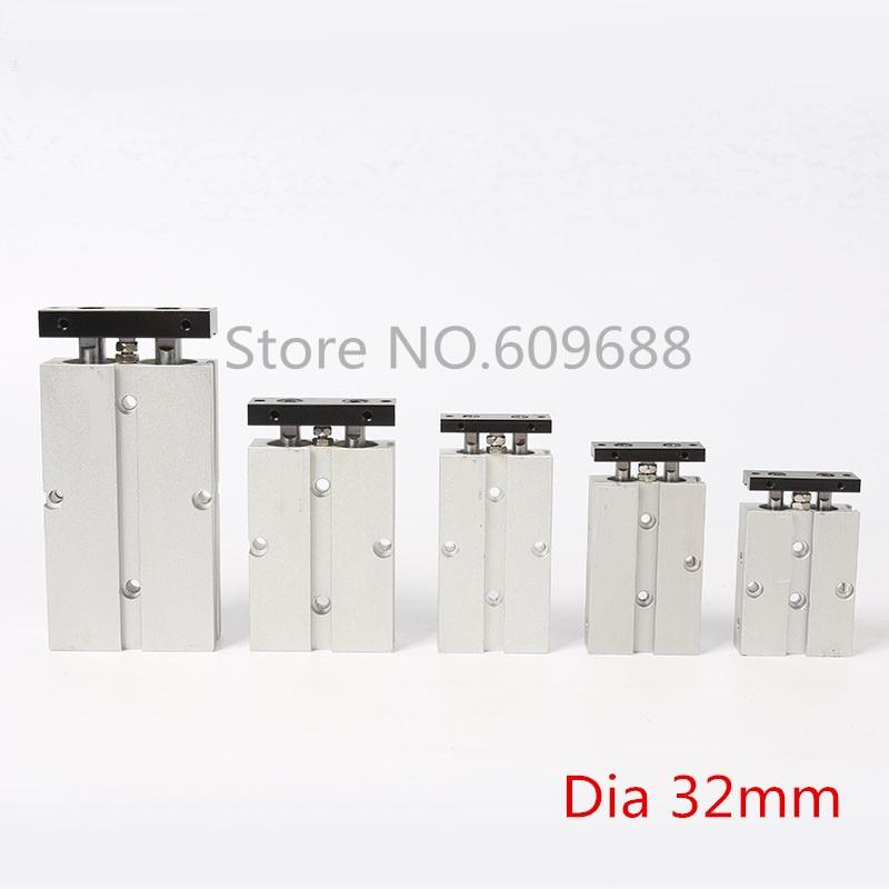 Double Axle pneumatic Cylinder Double rod cylinder TN32 250 TN32 300 TN32 350 TN32 400 TN32
