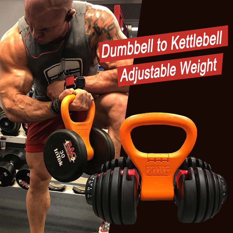 Dumbbells Kettlebell Grip Adjustable Portable Weight for Fitness Travel Weightlifting Bodybuilding Workout Gym Equipment image