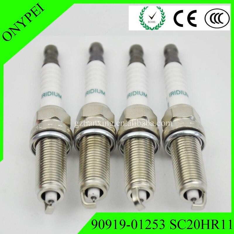 Spark-Plug Iridium SC20HR11 Prius 90919-01253 Toyota Scion Lexus 4pcs