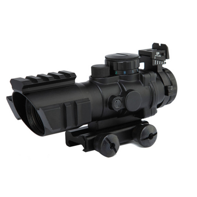 Hunting Tactical Scopes Red Dot Sight 4X32  W/Tri-Illuminated Reticle Hunting Airsoft Riflescope Optics Airsoft Rifle Scope Guns 4x30 hunting riflescope red green mil dot sight scope 11 20mm mount rail tactical rifle airsoft air guns rifle sight scopes