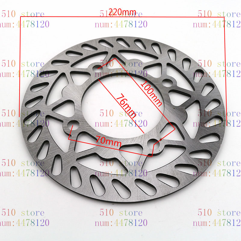 free shipping newest 190mm 200mm 210mm 220mm rear Brake Disc Disk Rotor for Pit Dirt Bike Quad Motorcycle Motocross|Brake Disks|Automobiles & Motorcycles - title=