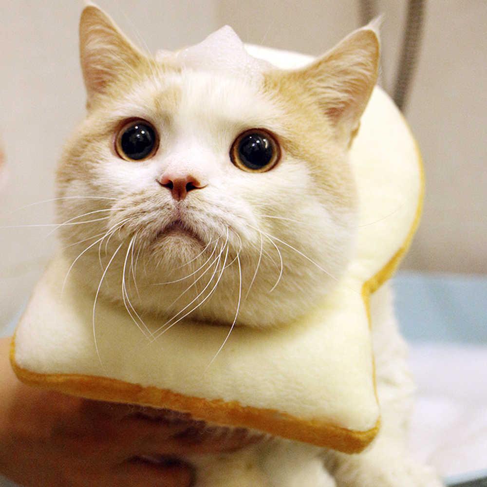 Accesorios para fotos de mascotas decoración disfraz perros gatos equipo creativo tostada disfraz rebanada de pan suave cuello circular XS/S /M/L/XL/XXL