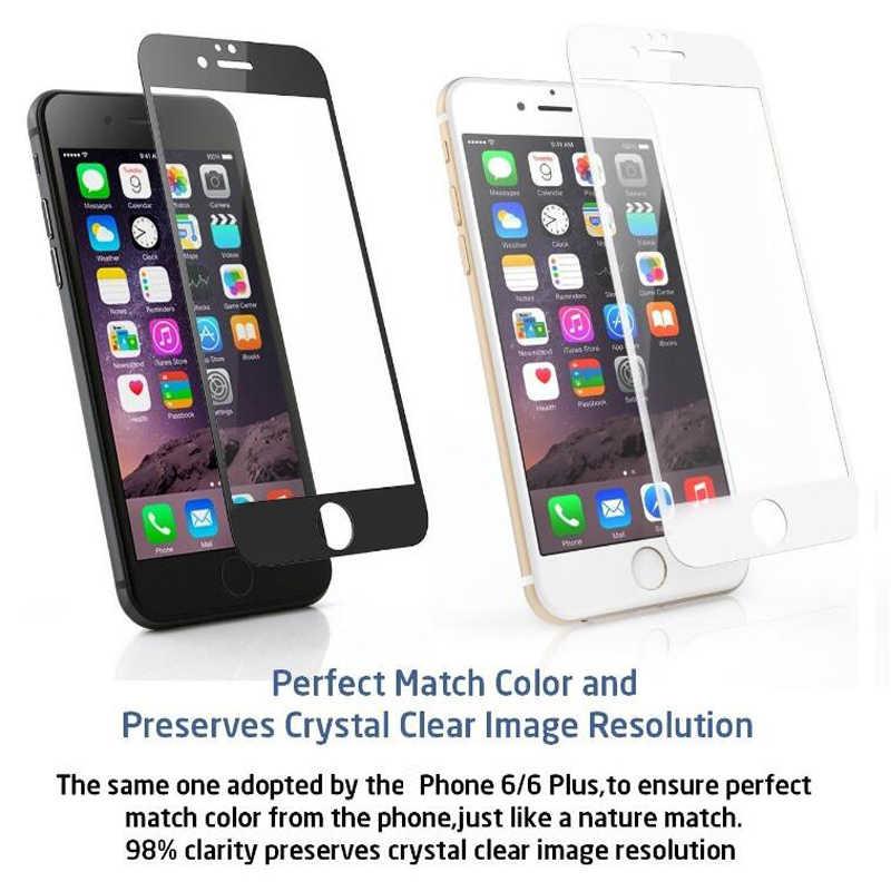 9H غطاء التغطية الكاملة الزجاج المقسى آيفون 7 8 6 6s زائد حامي الشاشة فيلم واقية آيفون X XS ماكس XR 5 5s SE