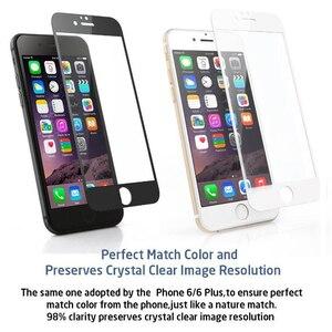 Image 2 - 9H כיסוי מלא כיסוי מזג זכוכית עבור iPhone 7 8 6 6s בתוספת מסך מגן מגן סרט עבור iPhone X XS Max XR 5 5S SE
