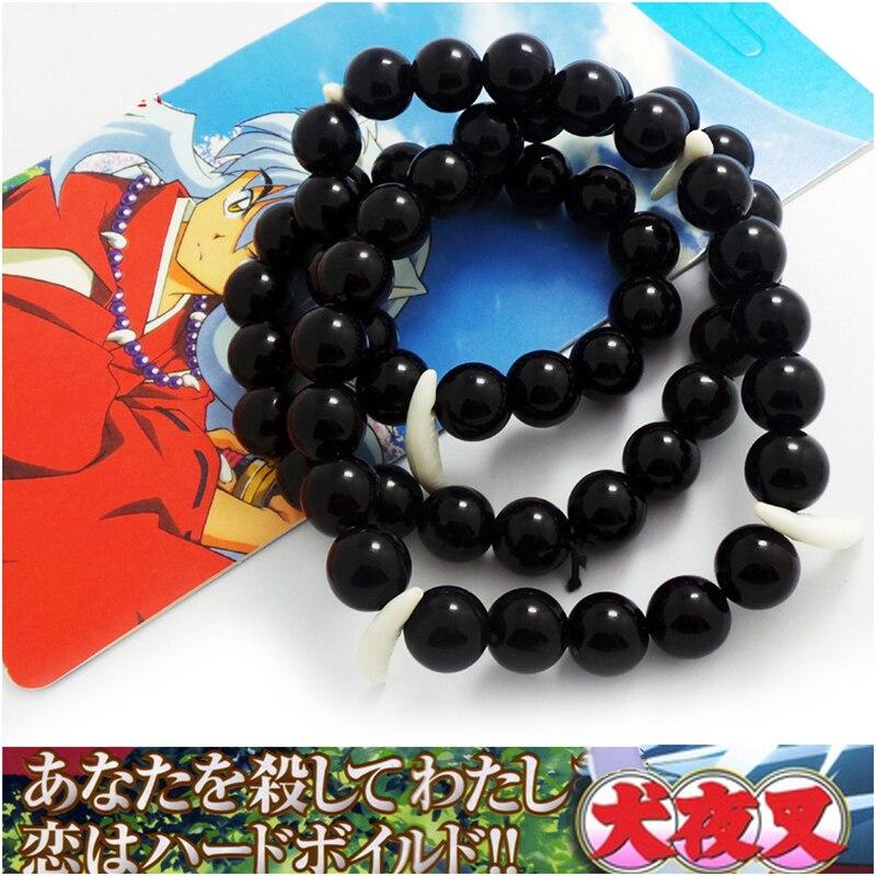 New Anime Inuyasha Platycodon Beads pendant Necklace Cosplay Xmas Gift Purple
