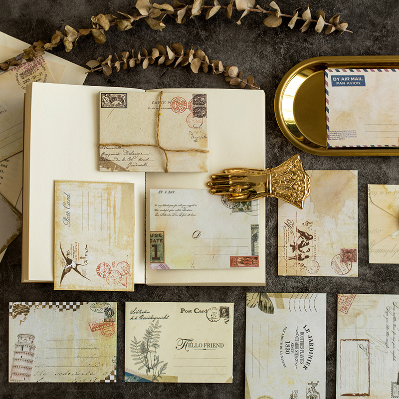 60 Pcs/set Vintage Small Mini Kraft Cangsheng Tinge Paper Window Envelopes Wedding Invitation Envelope Gift Envelope Ancien