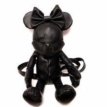 Новые женские Minnie черный мультфильм Микки Маус Кожа PU Рюкзак Симпатичные lovely девушка Ladies рюкзака девушки сумка женские рюкзаки