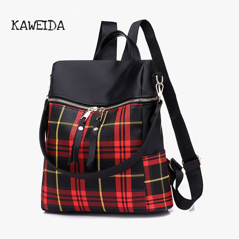 ed2ca42930f4 US $22.84 36% OFF|Nylon Water resistant Backpack Bag Top Handle Rucksack  Lightweight Durable Casual Fashion School Bag Purse for Womens Girls-in ...