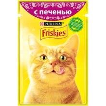 Набор влажный корм для кошек Friskies с печенью в подливе, Пауч, 85 г x 24 шт