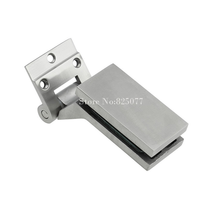 Free shipping 304 stainless steel furniture glass clamp for Glass cabinet hinges