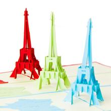 3D Eiffel Tower Paper Laser Cut Greeting Cards Creative Handmade Birthday Postcards for Lover Thank You Cards 5pcs/lot vintage wedding business invitation cards embossed paper greeting cards birthday postcards thank you cards 10pcs lot