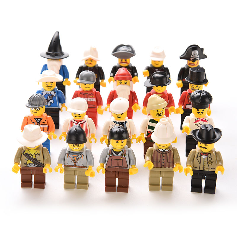 Toys For 20 : Pcs multi color action toy figure men people minifigs